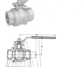 2-Piece Full Bore Ball Valves - Screwed Ends