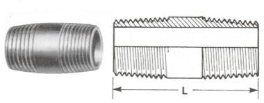 Barrel Nipples - BSPT Thread - Screwed Fittings