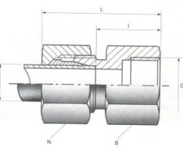 Female Stud Couplings - BSPP Thread