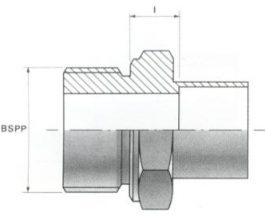Male Screw Thread Connectors - BSP Parallel
