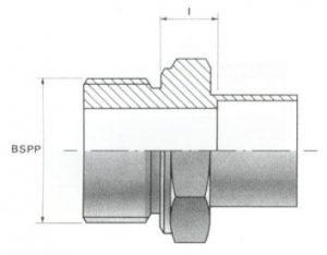Male Screw Thread Connectors - BSP Parallel
