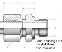 Male Stud Couplings - BSPP Thread