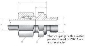Male Stud Couplings - BSPP Thread
