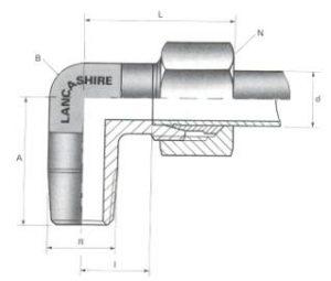 Stud Elbows - BSPT Thread