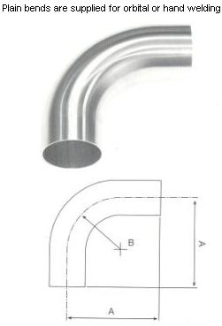 Plain 90° Bends - Long - Hygienic Fittings