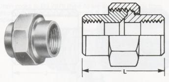 Unions - Cone Seated - Screwed Fittings